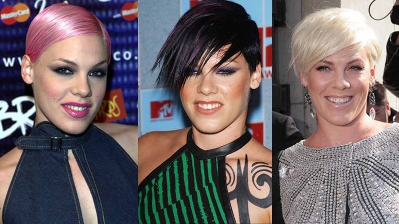 P Nk Hairstyles: GALLERY: P!nk's Changing Hairstyles Through The Years