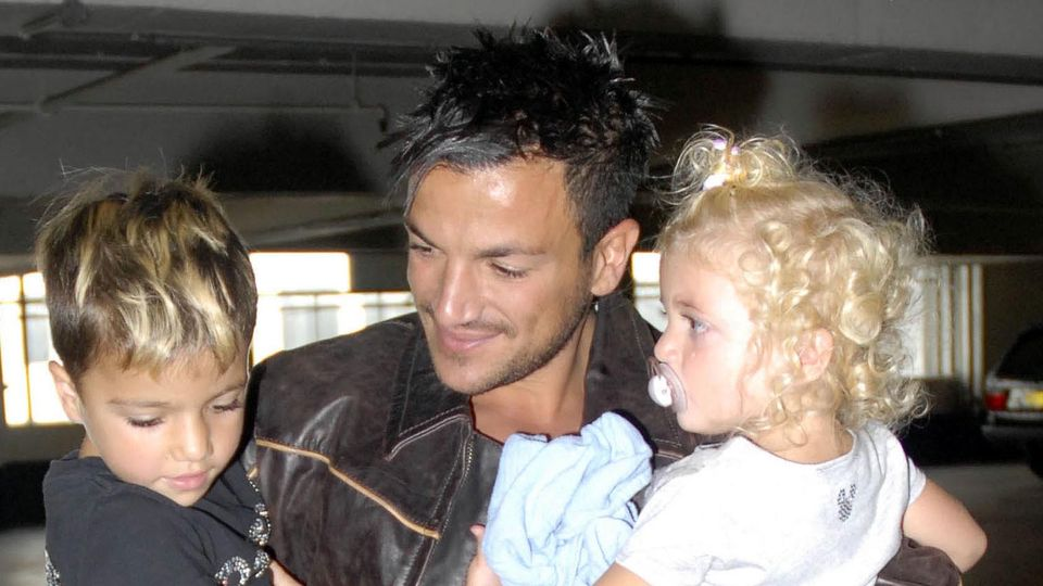 Peter Andre shares rare photo of children and wife Emily