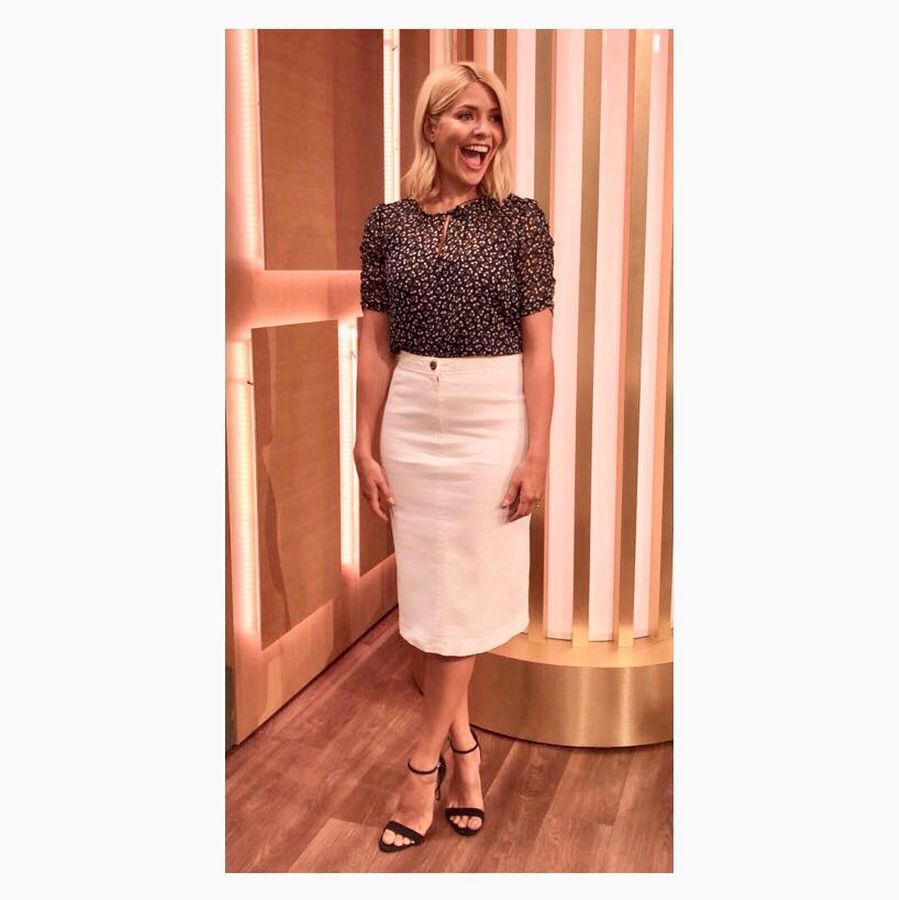 b4457748cdcf Topshop Red Blouse Holly Willoughby