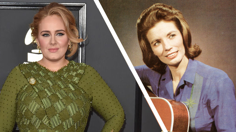 Adele looks unrecognisable as she dresses up as country music icon June Carter Cash