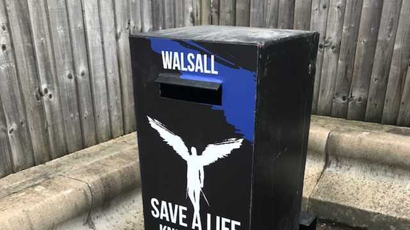 Family of murder victim unveil new weapon surrender bin in Walsall