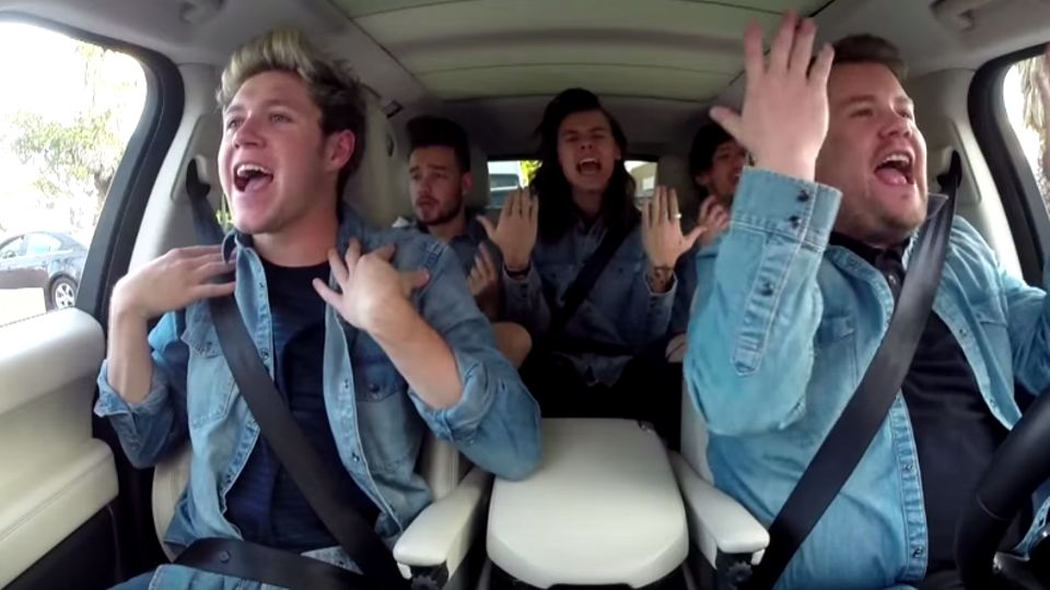 One Direction Join James Corden For Carpool Karaoke Celebrity News