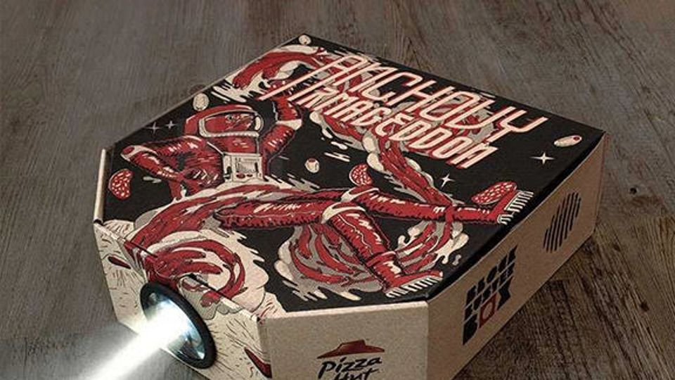 Pizza Hut Unveil Delivery Box That Doubles As A Film Projector